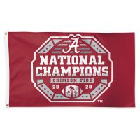 National Football Champions Alabama Crimson Tide COLLEGE FOOTBALL PLAY Flag - Deluxe 3' X 5'
