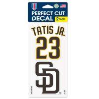 "San Diego Padres Perfect Cut Decal Set of two 4""x4"" Fernando Tatis Jr."