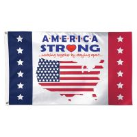 Patriotic America Strong Flag - Deluxe 3' X 5'