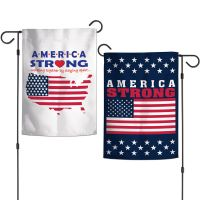 """Patriotic America Strong Garden Flags 2 sided 12.5"""" x 18"""""""