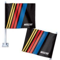 "NASCAR Logo Car Flag 11.75"" x 14"""