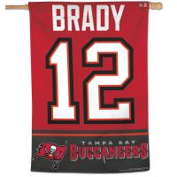 "Tampa Bay Buccaneers Vertical Flag 28"" x 40"" Tom Brady"