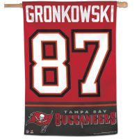 "Tampa Bay Buccaneers Vertical Flag 28"" x 40"" Rob Gronkowski"