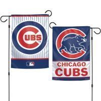 """Chicago Cubs Garden Flags 2 sided 12.5"""" x 18"""""""