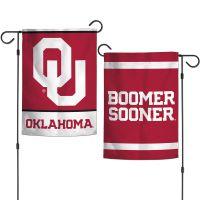 """Oklahoma Sooners Garden Flags 2 sided 12.5"""" x 18"""""""