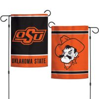 """Oklahoma State Cowboys Garden Flags 2 sided 12.5"""" x 18"""""""
