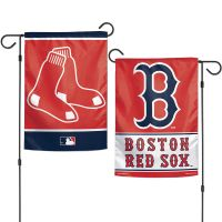 """Boston Red Sox Garden Flags 2 sided 12.5"""" x 18"""""""