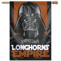 "Texas Longhorns / Star Wars DARTH VADER Vertical Flag 28"" x 40"""