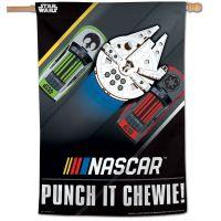 """NASCAR Logo / Star Wars STAR WARS CHEWIE Vertical Flag 28"""" x 40"""""""
