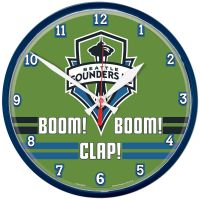 Seattle Sounders BOOM! BOOM! CLAP! Round Wall Clock 12.75""