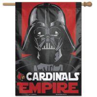 """Louisville Cardinals / Star Wars star wars vader Vertical Flag 28"""" x 40"""""""