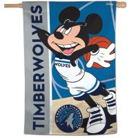"Minnesota Timberwolves / Disney Vertical Flag 28"" x 40"""