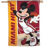 "Miami Heat / Disney Vertical Flag 28"" x 40"""
