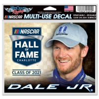 """Dale Jr Hall of Fame Multi-Use Decal -Clear Bckrgd 5"""" x 6"""""""