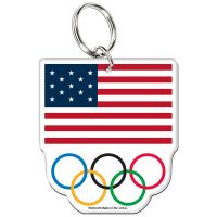 USOC Olympic Rings Premium Acrylic Key Ring