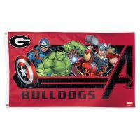 Georgia Bulldogs / Marvel (C) 2021 Marvel Flag - Deluxe 3' X 5'