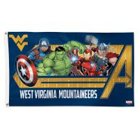 West Virginia Mountaineers / Marvel (c) 2021 MARVEL Flag - Deluxe 3' X 5'