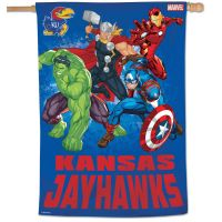"Kansas Jayhawks / Marvel (c) 2021 MARVEL Vertical Flag 28"" x 40"""