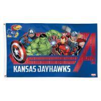 Kansas Jayhawks / Marvel (c) 2021 MARVEL Flag - Deluxe 3' X 5'