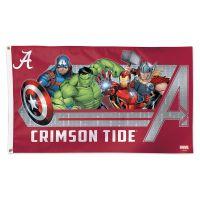 Alabama Crimson Tide / Marvel (c) 2021 MARVEL Flag - Deluxe 3' X 5'