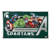Michigan State Spartans / Marvel (c) 2021 MARVEL Flag - Deluxe 3' X 5'