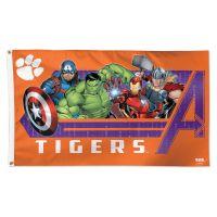 Clemson Tigers / Marvel (c) 2021 MARVEL Flag - Deluxe 3' X 5'