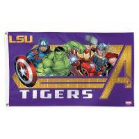 LSU Tigers / Marvel (c) 2021 MARVEL Flag - Deluxe 3' X 5'