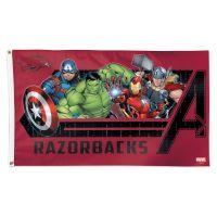 Arkansas Razorbacks / Marvel (c) 2021 MARVEL Flag - Deluxe 3' X 5'