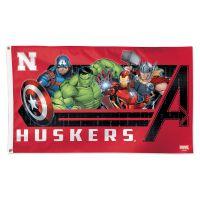 Nebraska Cornhuskers / Marvel (c) 2021 MARVEL Flag - Deluxe 3' X 5'