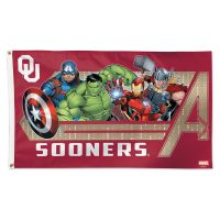 Oklahoma Sooners / Marvel (c) 2021 MARVEL Flag - Deluxe 3' X 5'