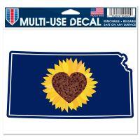 "State / Kansas WICHITA Multi-Use Decal -Clear Bckrgd 5"" x 6"""