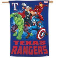 """Texas Rangers / Marvel (c) 2021 MARVEL Vertical Flag 28"""" x 40"""""""
