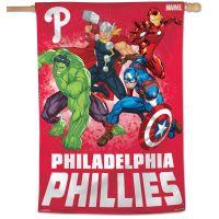 """Philadelphia Phillies / Marvel (c) 2021 MARVEL Vertical Flag 28"""" x 40"""""""