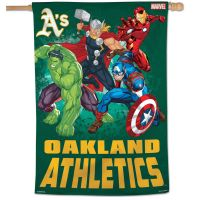 "Oakland A's / Marvel (c) 2021 MARVEL Vertical Flag 28"" x 40"""