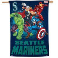 "Seattle Mariners / Marvel (c) 2021 MARVEL Vertical Flag 28"" x 40"""