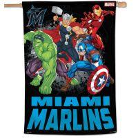 "Miami Marlins / Marvel (c) 2021 MARVEL Vertical Flag 28"" x 40"""