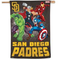 "San Diego Padres / Marvel (c) 2021 MARVEL Vertical Flag 28"" x 40"""