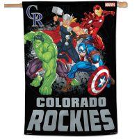 "Colorado Rockies / Marvel (c) 2021 MARVEL Vertical Flag 28"" x 40"""