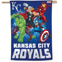 "Kansas City Royals / Marvel (c) 2021 MARVEL Vertical Flag 28"" x 40"""