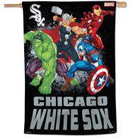 """Chicago White Sox / Marvel (c) 2021 MARVEL Vertical Flag 28"""" x 40"""""""