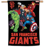 "San Francisco Giants / Marvel (c) 2021 MARVEL Vertical Flag 28"" x 40"""