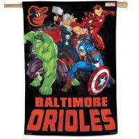 """Baltimore Orioles / Marvel (c) 2021 MARVEL Vertical Flag 28"""" x 40"""""""
