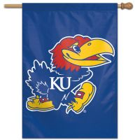 "Kansas Jayhawks Vertical Flag 28"" x 40"""