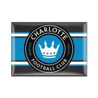 "Charlotte FC Metal Magnet 2.5"" x 3.5"""