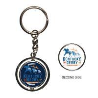 Kentucky Derby Spinner Key Ring