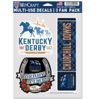 """Kentucky Derby Multi Use - 3 Fan Pack 5.5"""" x 7.75"""""""