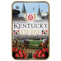 "Kentucky Derby Plastic Sign 11"" x 17"""