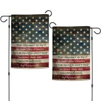 "Patriotic PLEDGE FLAG Garden Flags 2 sided 12.5"" x 18"""