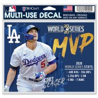 """World Series Champions Los Angeles Dodgers World Series Multi-Use Decal -Clear Bckrgd 5"""" x 6"""" Corey Seager"""