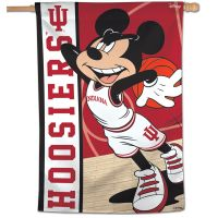 "Indiana Hoosiers / Disney MICKEY MOUSE BASKETBALL Vertical Flag 28"" x 40"""